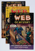 Golden Age (1938-1955):Horror, Web of Mystery Group (Ace, 1951-52) Condition: Average VG+....(Total: 4 Comic Books)