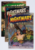 Golden Age (1938-1955):Horror, Nightmare #1-3 Group (Ziff-Davis, 1952-53) Condition: AverageVG.... (Total: 3 Comic Books)