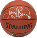Basketball Collectibles:Balls, Larry Bird Signed Basketball. ...