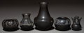 American Indian Art:Pottery, FIVE SOUTHWEST BLACKWARE VESSELS. Various Artists. ... (Total: 5Items)