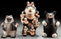 American Indian Art:Pottery, THREE COCHITI FIGURES. G. Ortiz and Felicita Eustace. c. 2005...(Total: 3 Items)