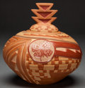 American Indian Art:Pottery, A SANTA CLARA REDWARE JAR. Grace Medicine Flower. c. 2000. ...