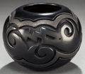 American Indian Art:Pottery, A SANTA CLARA CARVED BLACKWARE JAR. Linda Tafoya Oyenque. c.2005...