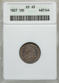 Bust Dimes: , 1827 10C XF45 ANACS. NGC Census: (13/219). PCGS Population(17/200). Mintage: 1,300,000. Numismedia Wsl. Price for problem ...