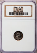 Proof Seated Half Dimes: , 1866 H10C PR62 NGC. NGC Census: (11/122). PCGS Population (28/137).Mintage: 725. Numismedia Wsl. Price for problem free NG...