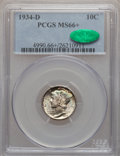 Mercury Dimes: , 1934-D 10C MS66+ PCGS. CAC. PCGS Population (103/13). NGC Census:(85/12). Mintage: 6,772,000. Numismedia Wsl. Price for pr...