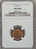 Lincoln Cents: , 1913 1C MS65 Red and Brown NGC. NGC Census: (62/2). PCGS Population(45/1). Mintage: 76,532,352. Numismedia Wsl. Price for ...