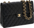 Luxury Accessories:Bags, Chanel Black Caviar Leather Jumbo Single Flap Bag with Gold Hardware. ...