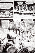 Original Comic Art:Panel Pages, Joe Kubert and Jack Abel Our Army at War #189 Sgt.Rock/First Appearance of Unit 3 Page 3 Original Art (DC, 19...