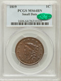 Large Cents, 1819 1C Small Date MS64 Brown PCGS. CAC. N-9, R.1....