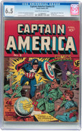 Golden Age (1938-1955):Superhero, Captain America Comics #2 (Timely, 1941) CGC FN+ 6.5 Cream to off-white pages....