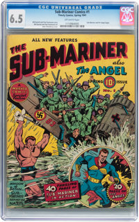 Sub-Mariner Comics #1 (Timely, 1941) CGC FN+ 6.5 Off-white pages