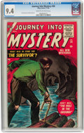 Golden Age (1938-1955):Horror, Journey Into Mystery #28 (Marvel, 1955) CGC NM 9.4 Cream tooff-white pages....