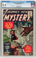 Golden Age (1938-1955):Science Fiction, Journey Into Mystery #26 (Marvel, 1955) CGC NM 9.4 Cream tooff-white pages....