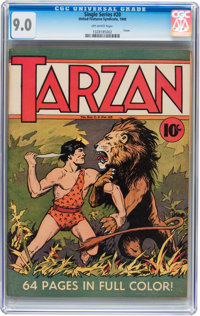 Single Series #20 Tarzan (United Features Syndicate, 1940) CGC VF/NM 9.0 Off-white pages