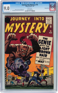 Journey Into Mystery #76 Price Variant (Marvel, 1962) CGC VF/NM 9.0 White pages