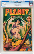 Golden Age (1938-1955):Science Fiction, Planet Comics #44 (Fiction House, 1946) CGC NM 9.4 Cream to off-white pages....