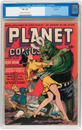 Golden Age (1938-1955):Science Fiction, Planet Comics #23 Rockford pedigree (Fiction House, 1943) CGC VF+8.5 Cream to off-white pages....