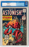 Silver Age (1956-1969):Mystery, Tales to Astonish #10 (Marvel, 1960) CGC VF/NM 9.0 Off-white towhite pages....