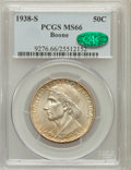 Commemorative Silver: , 1938-S 50C Boone MS66 PCGS. CAC. PCGS Population (130/32). NGCCensus: (106/32). Mintage: 2,100. Numismedia Wsl. Price for ...