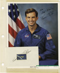 Explorers:Space Exploration, Lot of Nine Astronaut and Test Pilot Signatures, including: KevinChilton, Jan Davis, Bill Readdy, Tom Akers, Rick Hieb, and...(Total: 9 Item)