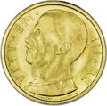 Italy: , Italy: Kingdom. Vittorio Emanuele III gold 50 Lire 1933R Year XI,KM71, fully lustrous, Choice UNC. A very scarce issue..  From...