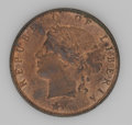 Liberia: , Liberia: Republic - Pair of Bronze Types, KM5 Cent 1896H, lustrousUNC, few small stains, and KM6 2 Cents 1896H, nice lustrous UNC....(Total: 2 coins Item)