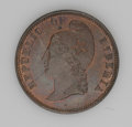 Liberia: , Liberia: Republic Pair of Copper Patterns, KM-Pn15 Cent 1868-E,nice Proof with traces of original red, and KM-Pn16 2 Cents 1868-E,b... (Total: 2 coins Item)