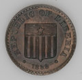 Liberia: , Liberia: Republic Cent 1888-P Copper Pattern - Two Pieces, KM-Pn17,both brown Proof, one with some luster.... (Total: 2 Coins Item)
