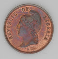 Liberia: , Liberia: Republic Copper Pattern 2 Cents 1890-E - Two Types,KM-Pn53, TWO CENTS, choice lustrous Proof and KM-Pn54, 2 CENTS,heavily ... (Total: 2 coins Item)