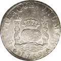 Mexico: , Mexico: Carlos III Pillar 8 Reales 1769-MF, KM105, AU53 ANACS,considerable original mint luster....