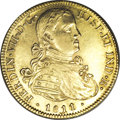 Mexico: , Mexico: Ferdinand VII gold 8 Escudos 1811/0-HJ, KM160, choiceXF/AU, remarkably well-struck with no blemishes such as laminationsor...