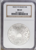 Mexico: , Mexico: Republic 8 Reales 1862-O-FR, KM377.11, MS63 NGC, fullywhite, crudely manufactured as is typical for the Oaxaca Mintduring ...