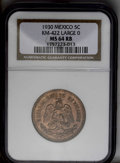 Mexico: , Mexico: A Mint State trio including: 5 Centavos 1930 Large O, MS64Red and Brown NGC; 5 Centavos 1933 MS64 Red and Brown NGC; and a... (Total: 3 Coins Item)
