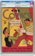 Platinum Age (1897-1937):Miscellaneous, The Comics #1 File Copy (Dell, 1937) CGC VF+ 8.5 Cream to off-whitepages....