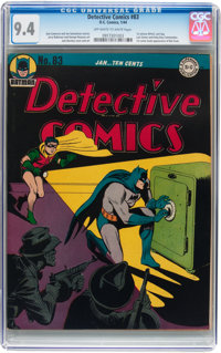 Detective Comics #83 (DC, 1944) CGC NM 9.4 Off-white to white pages