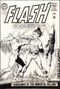 Carmine Infantino and Murphy Anderson The Flash #137 Earth-1/Earth-2 Crossover Cover Original Art (DC, 1963)