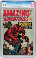 Silver Age (1956-1969):Horror, Amazing Adventures #5 (Marvel, 1961) CGC NM- 9.2 Off-white to white pages....