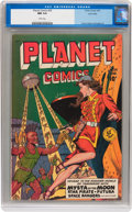 Golden Age (1938-1955):Science Fiction, Planet Comics #59 Lost Valley pedigree (Fiction House, 1949) CGC NM9.4 White pages....