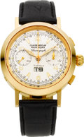 Timepieces:Wristwatch, Claude Meylan New/Old Stock 18k Gold Chronograph, Limited Edition No. 63/100. ...