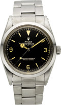 Timepieces:Wristwatch, Rolex Ref. 1016 Steel Oyster Perpetual Explorer, circa 1960. ...