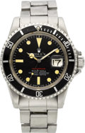 Timepieces:Wristwatch, Rolex Ref. 1680 Rare Steel Red Submariner, circa 1972. ...