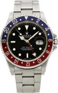Timepieces:Wristwatch, Rolex Ref. 16700 Steel GMT-Master, circa 1997. ...
