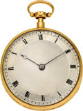 Timepieces:Pocket (pre 1900) , Le Roy Paris Gold Musical Quarter Hour Repeater, circa 1820. ...