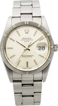 Timepieces:Wristwatch, Rolex Ref. 15000 Gent's Steel Oyster Perpetual Date, circa 1989....
