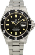 Timepieces:Wristwatch, Rolex Ref. 16800 Steel Submariner, circa 1983. ...