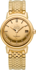 Timepieces:Wristwatch, Omega Very Fine Rose Gold Constellation With Gold Band, circa 1960....