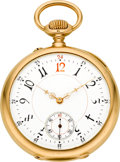 Timepieces:Pocket (pre 1900) , Vacheron & Constantin Gold Pocket Watch With Unusual Dial,circa 1899. ...