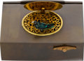 Timepieces:Other , Gutta-Percha & Gilt Metal Singing Bird Box. ...