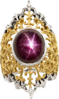 Estate Jewelry:Rings, Star Ruby, Gold Ring, Buccellati. ...